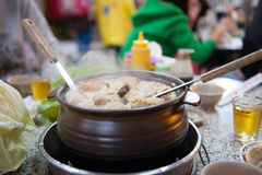 Ginger duck Chafing dish Stock Images