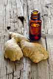 Ginger essential oil Royalty Free Stock Photography