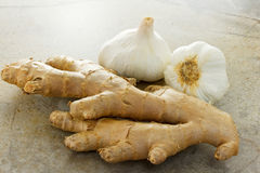 Ginger and garlic Stock Images