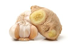 Ginger and Garlic royalty free stock images