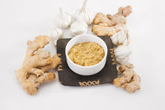 Ginger Garlic Paste Stock Photo