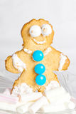 Ginger gingerbread person Royalty Free Stock Image