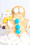 Ginger gingerbread person Stock Photos