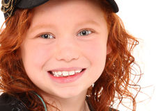 Ginger Girl Close Up Royalty Free Stock Photo