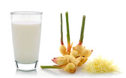 Ginger and glass of milk Royalty Free Stock Photography