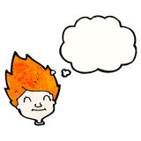 Ginger haired boy cartoon Stock Images