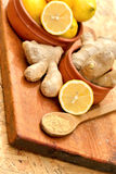 Ginger in healthy diet - nutrition Royalty Free Stock Photo