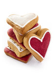 Ginger Hearts for Valentines Day. Royalty Free Stock Photography