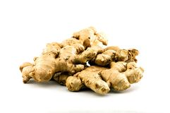 Ginger herb in white background royalty free stock image