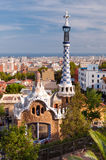 Ginger house on Park Guell at Barcelona Royalty Free Stock Photography