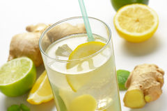 Ginger ice tea Royalty Free Stock Photos