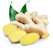 Ginger Isolated on a white stock photo
