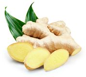 Ginger Isolated on a white royalty free stock photos