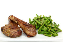 Ginger Lamb Chops Stock Photo