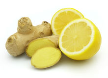 Ginger with lemon Stock Photos