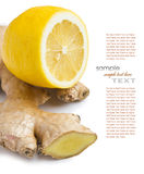 Ginger and lemon Royalty Free Stock Photography