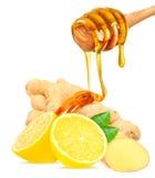 Ginger, lemon and honey Stock Image