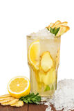 Ginger and lemon lemonade Royalty Free Stock Images