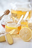 Ginger lemon tea and honey Stock Photo