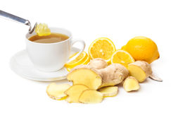 Ginger lemon tea, honey Royalty Free Stock Photo