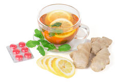Ginger Lemon Tea Stock Image
