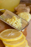 Ginger and lemon. Royalty Free Stock Photos