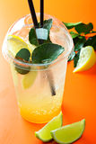 Ginger lemonade and ingredients Royalty Free Stock Photos