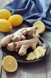 Ginger and lemons Royalty Free Stock Image
