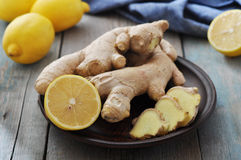 Ginger and lemons Royalty Free Stock Photography