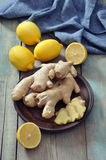 Ginger and lemons Stock Photos