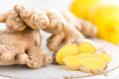 Ginger and lemons Royalty Free Stock Images