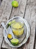 Ginger and lime  hot drink Stock Photos