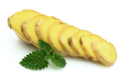 Ginger and a mint Stock Image