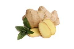 Ginger,  mint Stock Photo