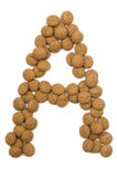 Ginger Nut Alphabet A Royalty Free Stock Photo