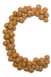 Ginger Nut Alphabet C Stock Images