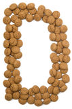Ginger Nut Alphabet D Stock Images