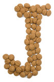 Ginger Nut Alphabet J Stock Images