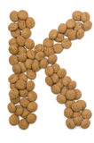 Ginger Nut Alphabet K Royalty Free Stock Photos