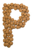Ginger Nut Alphabet P Royalty Free Stock Image