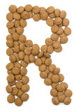 Ginger Nut Alphabet R Stock Photography