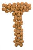 Ginger Nut Alphabet T Royalty Free Stock Photo