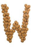 Ginger Nut Alphabet W Royalty Free Stock Images