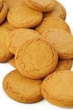 Ginger nut biscuts on white Stock Image