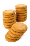 Ginger nut biscuts on white Royalty Free Stock Photography