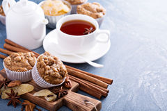 Ginger and nut streusel muffins with winter spices Stock Photography
