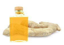 Ginger oil Royalty Free Stock Images