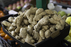 Ginger in open air market in Italy royalty free stock photography