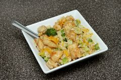 Ginger orange chicken Royalty Free Stock Image