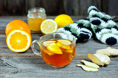 Ginger orange and limon tea Royalty Free Stock Photos